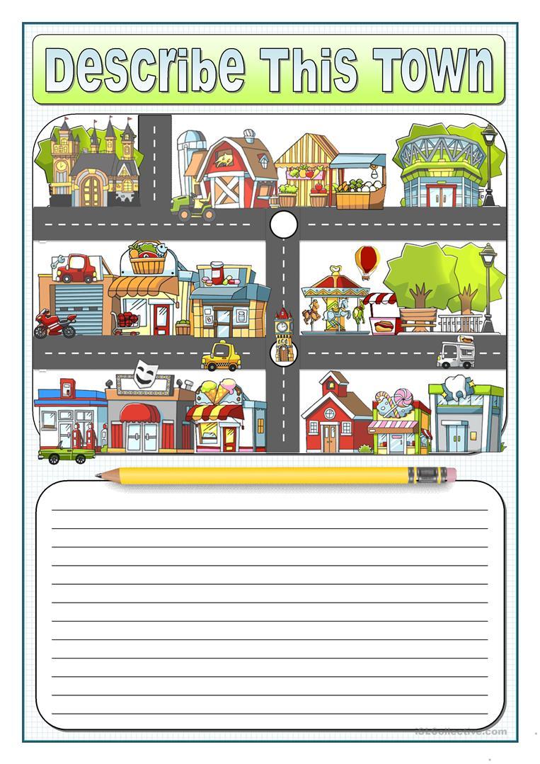 12 Free Esl Describing Places Worksheets