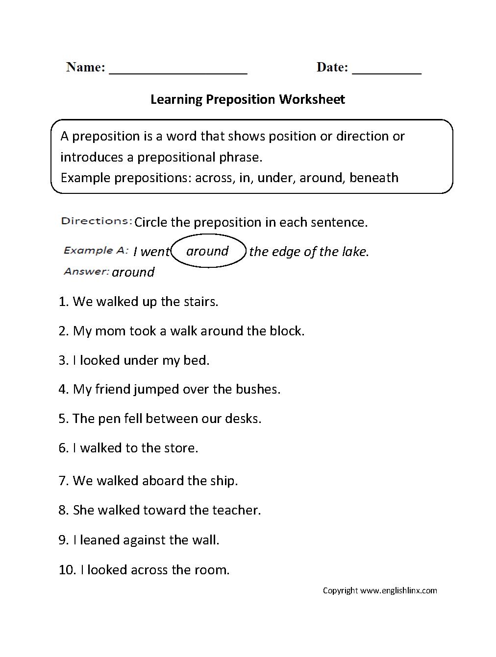 147 Free Esl Prepositions Worksheets For Upper Intermediate (b2
