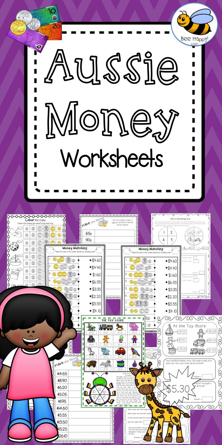 162 Best Aus Money Activities Images On Worksheets Samples