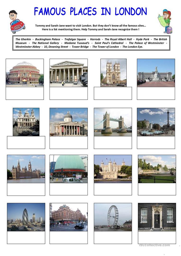 189 Free Esl London Worksheets