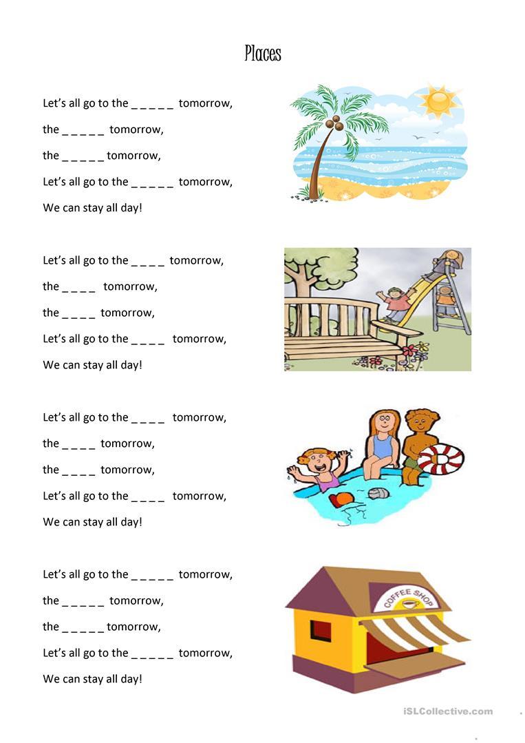 20 Free Esl School Places Worksheets