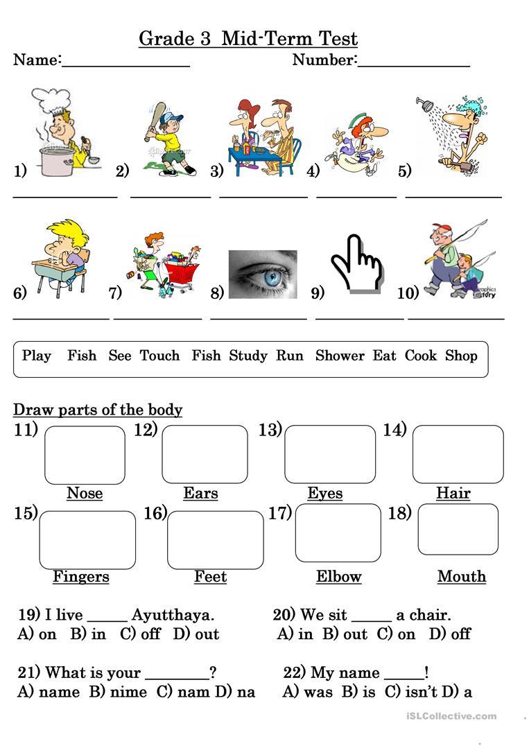 33 Free Esl Grade 3 Worksheets