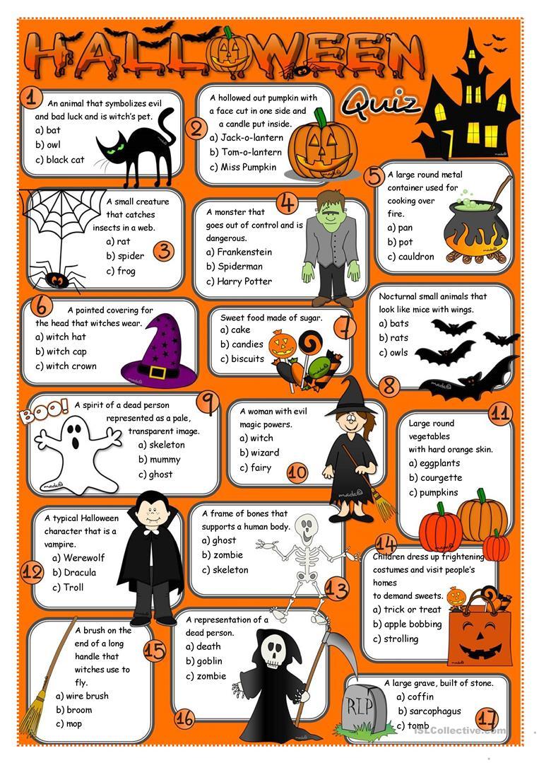 464 Free Esl Halloween Worksheets