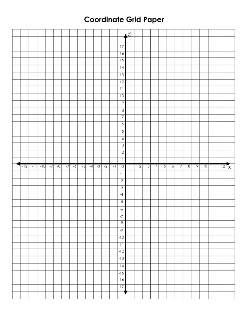 4 Quadrant Coordinate Grid Worksheets Worksheets For All