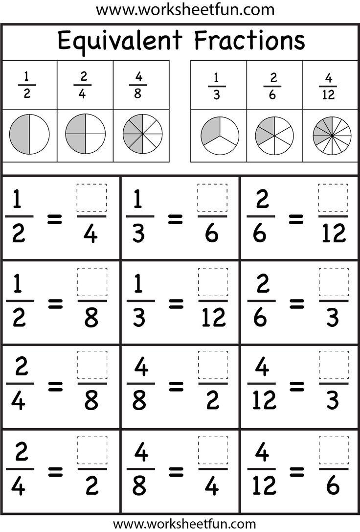 4th Grade Equivalent Fractions Worksheet Worksheets For All