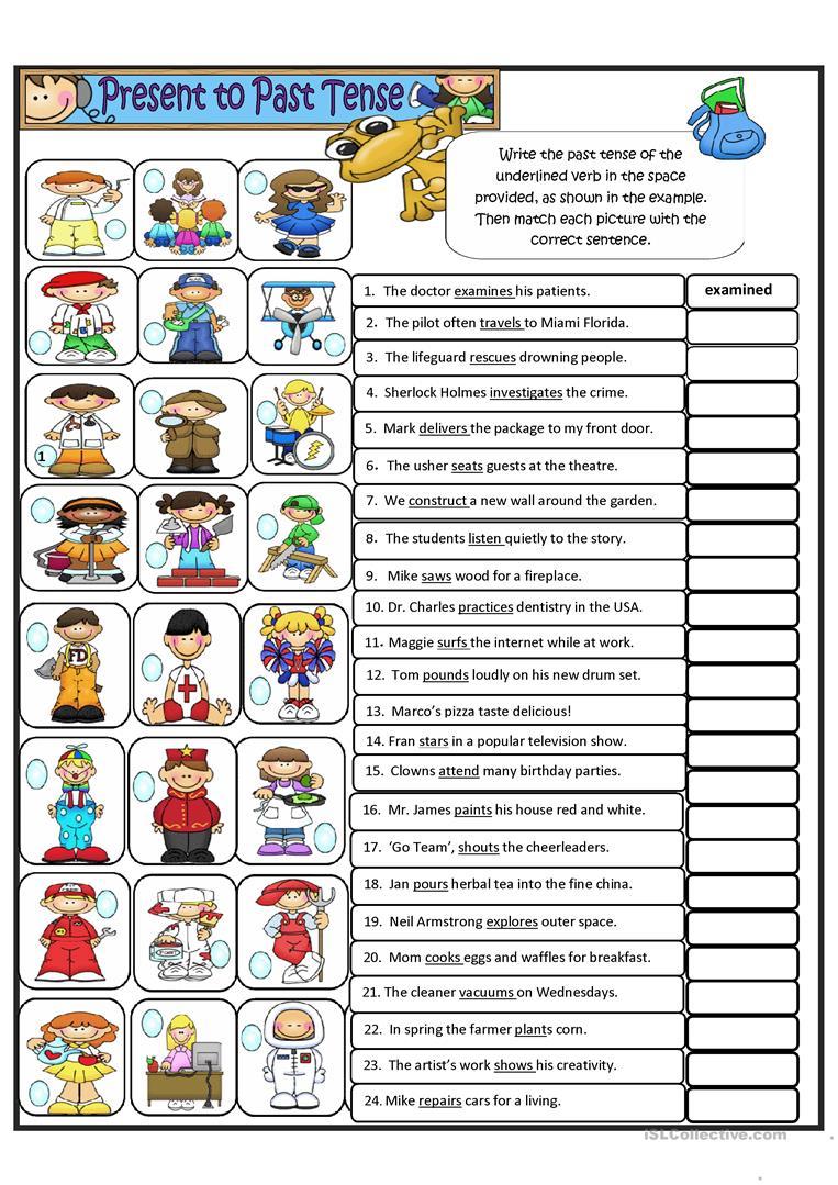 602 Free Esl Regular Verbs Worksheets