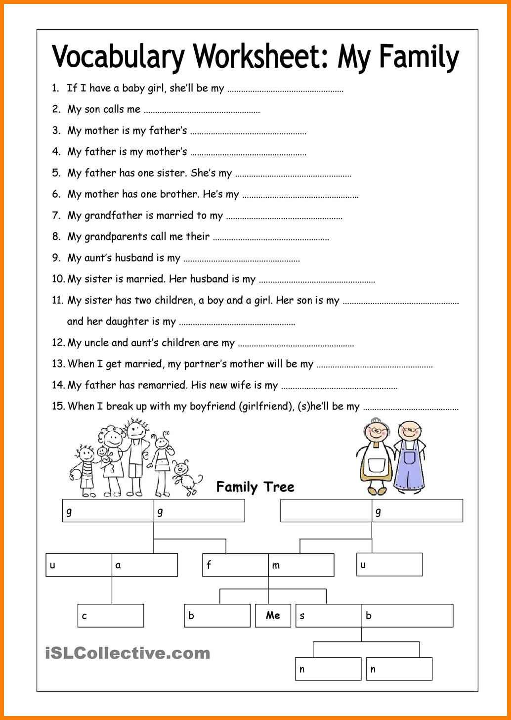 6 Esl Vocabulary Worksheets