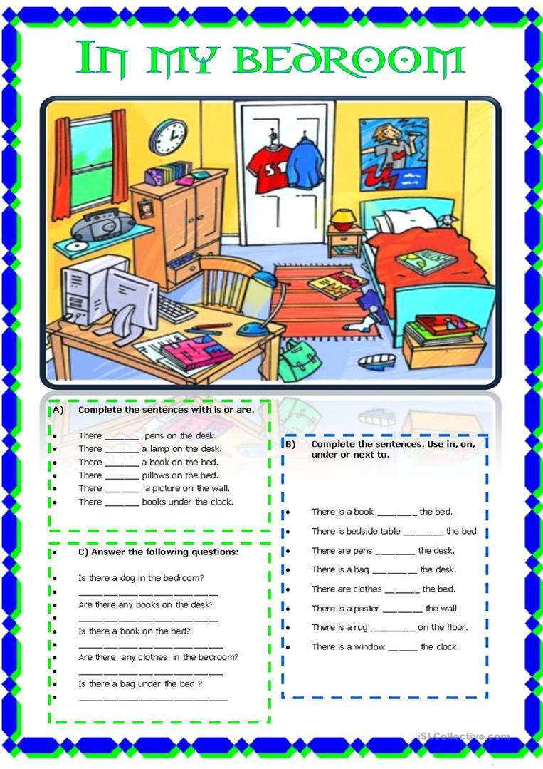 76 Free Esl Bedroom Worksheets