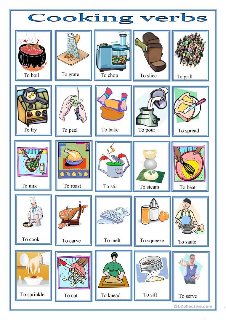 78 Free Esl Cooking Worksheets