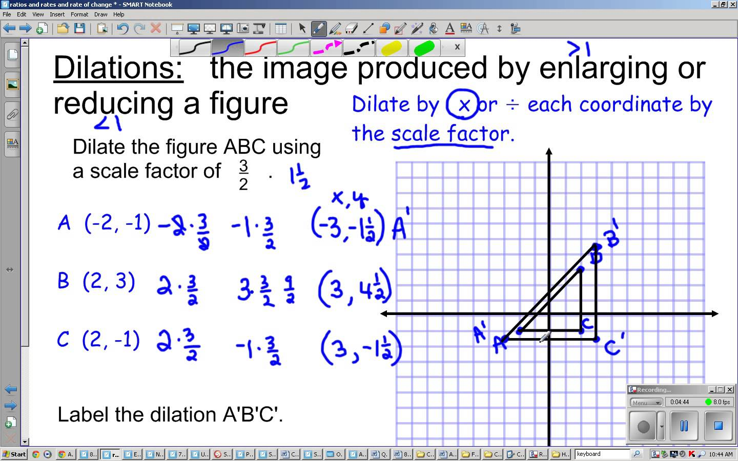 8th Grade Dilations And Scale Factor