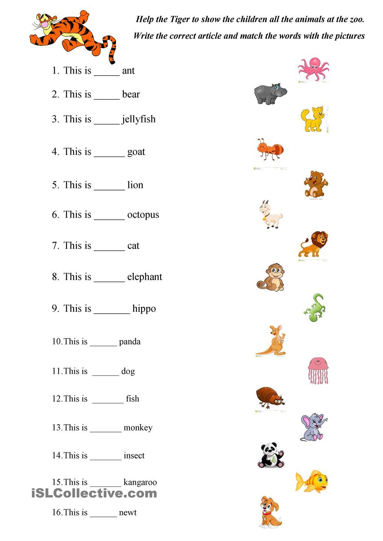 Abc Animals Practice Enkku Pinterest Animal English And Verb