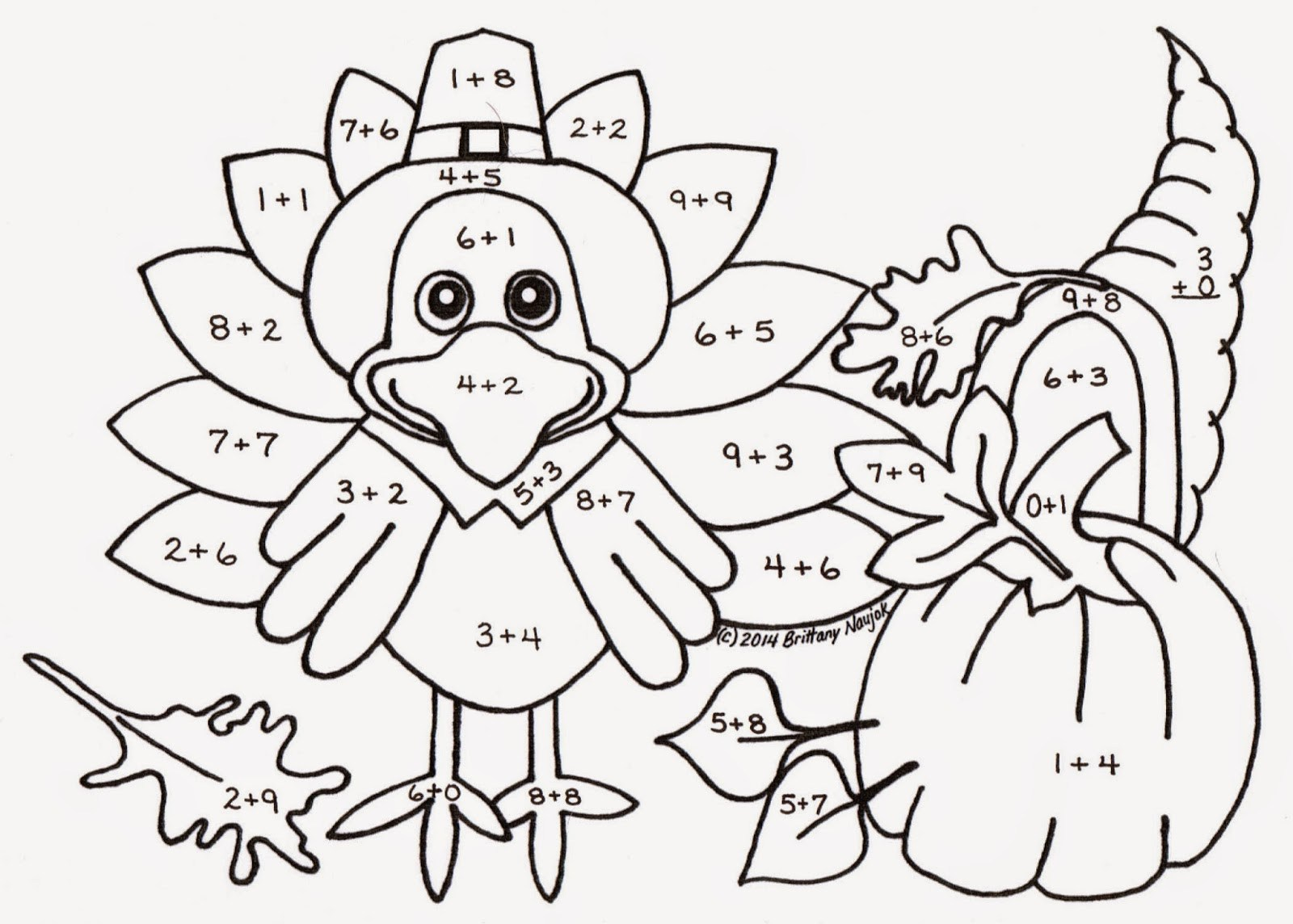 Addition Coloring Pages Grade Color Worksheets First Number 2nd