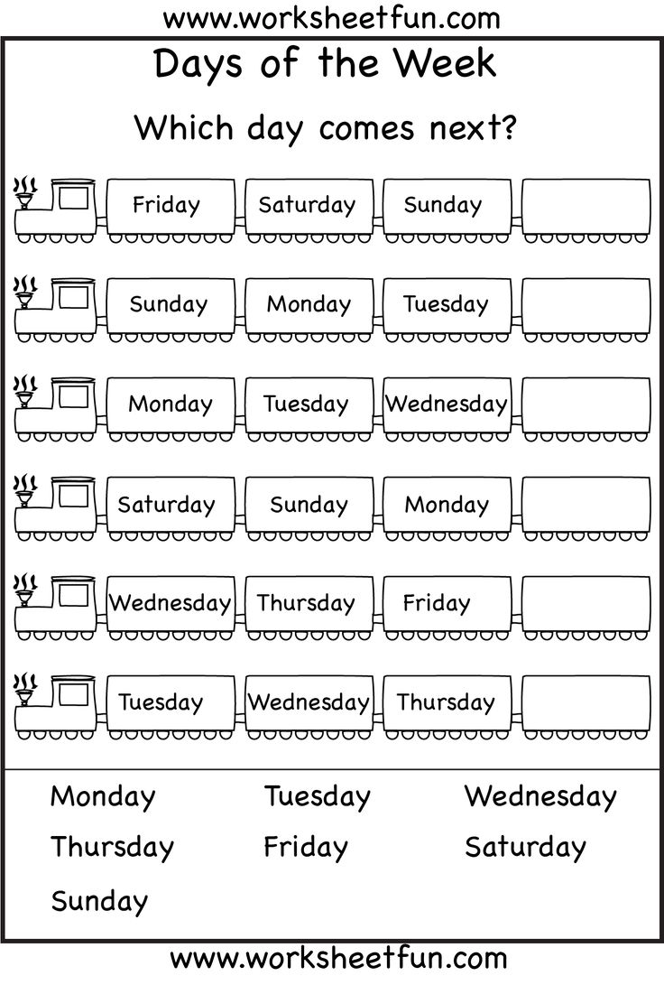 Adorable Esl Days Of The Week Printable Worksheets About Best 25