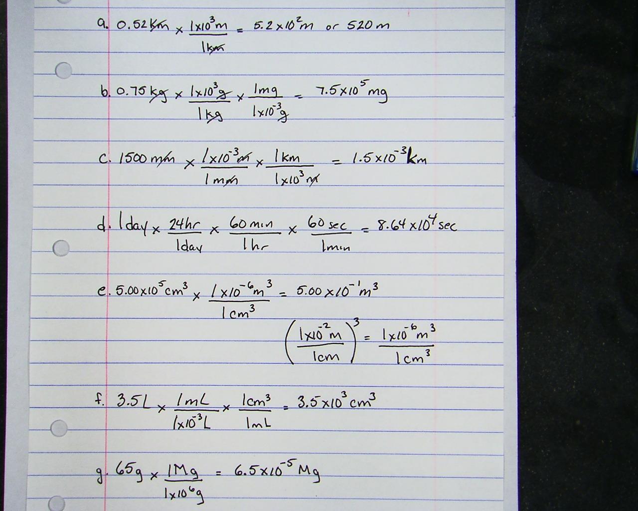 Baylor, Scott   Chemistry Conversion Worksheet Answer Sheet