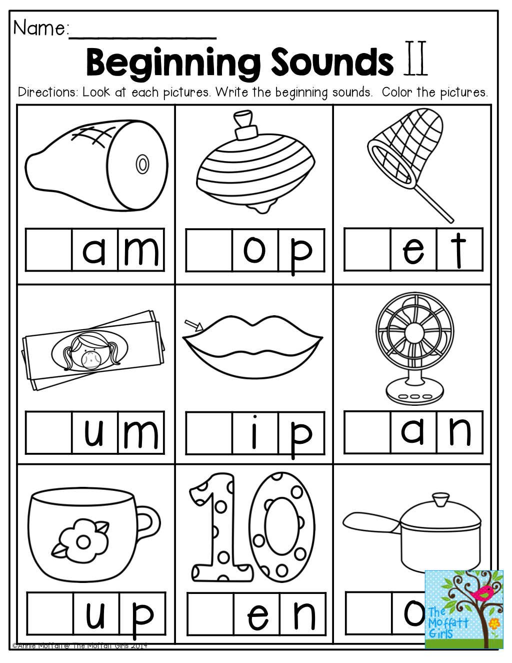 Beginning Sound Worksheets For Kindergarten Math Christmas Sounds