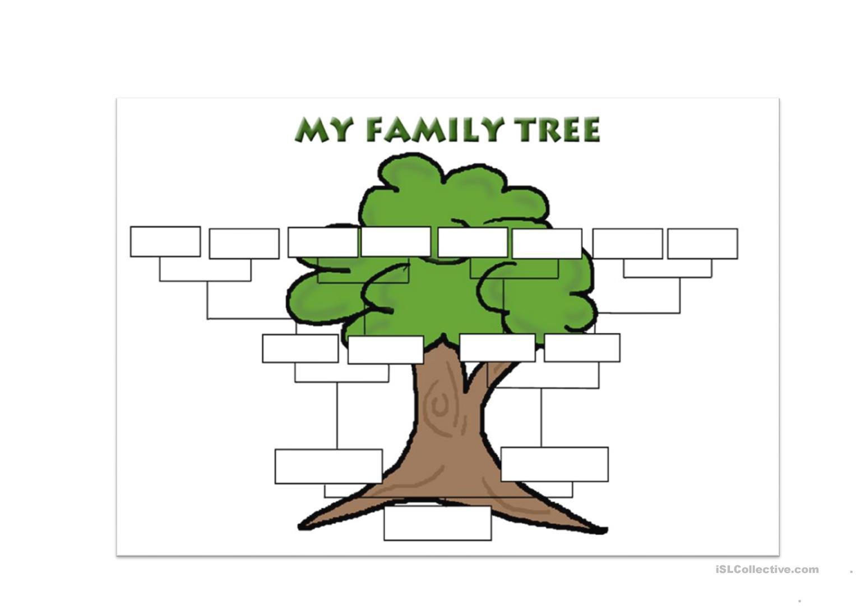 Blank Family Tree Worksheet