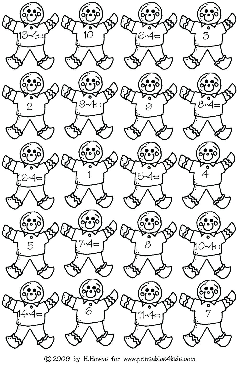 Christmas Coloring Worksheets For First Grade