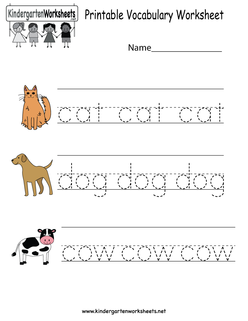 Classy English Worksheets Kindergarten Free Printable In Free