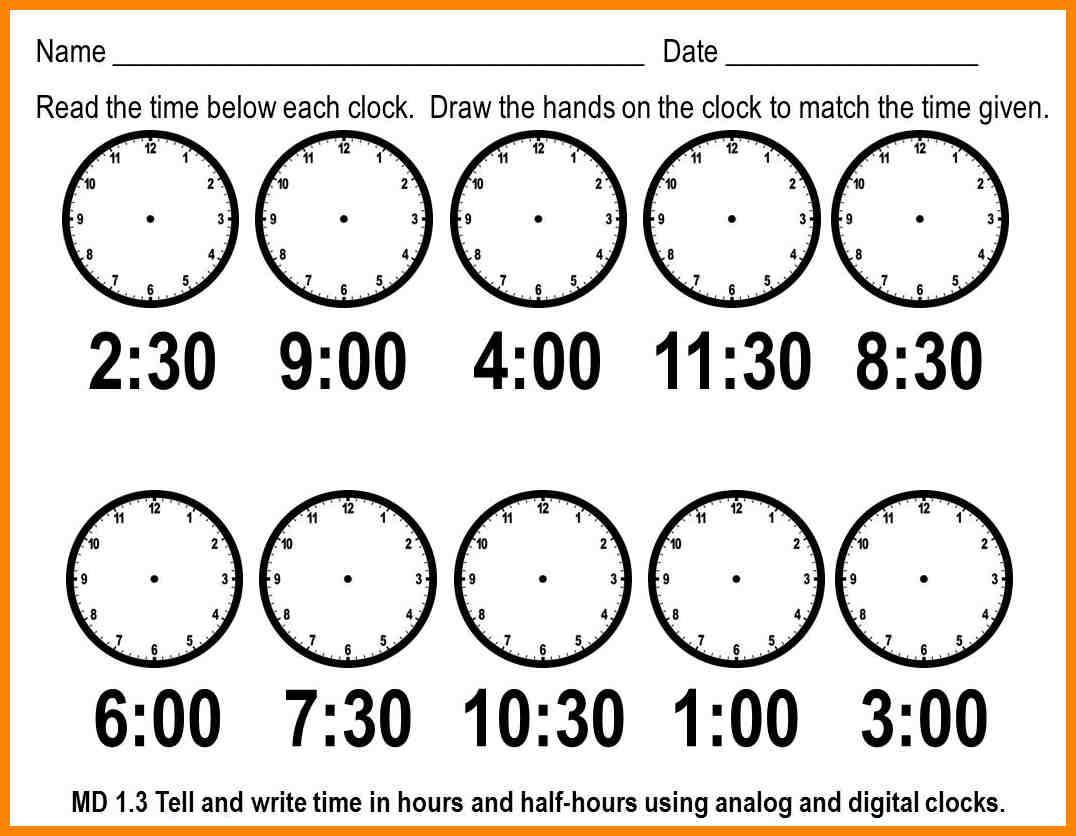 Clock Worksheets To 1 Minute Telling Time Photo Worksheet