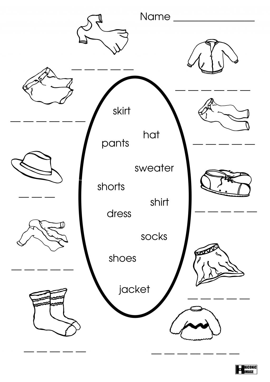 Clothes Worksheets For Kindergarten Pdf Spanish Worksheet