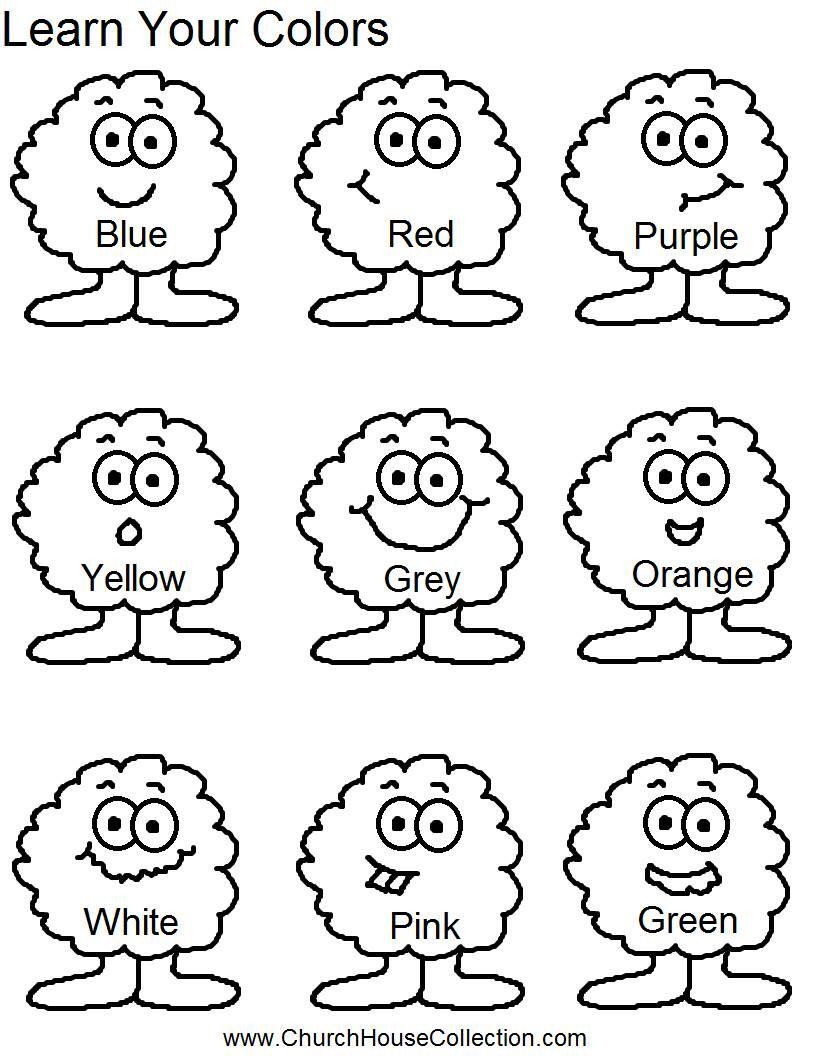 Color Worksheets For Kindergarten 1  13890