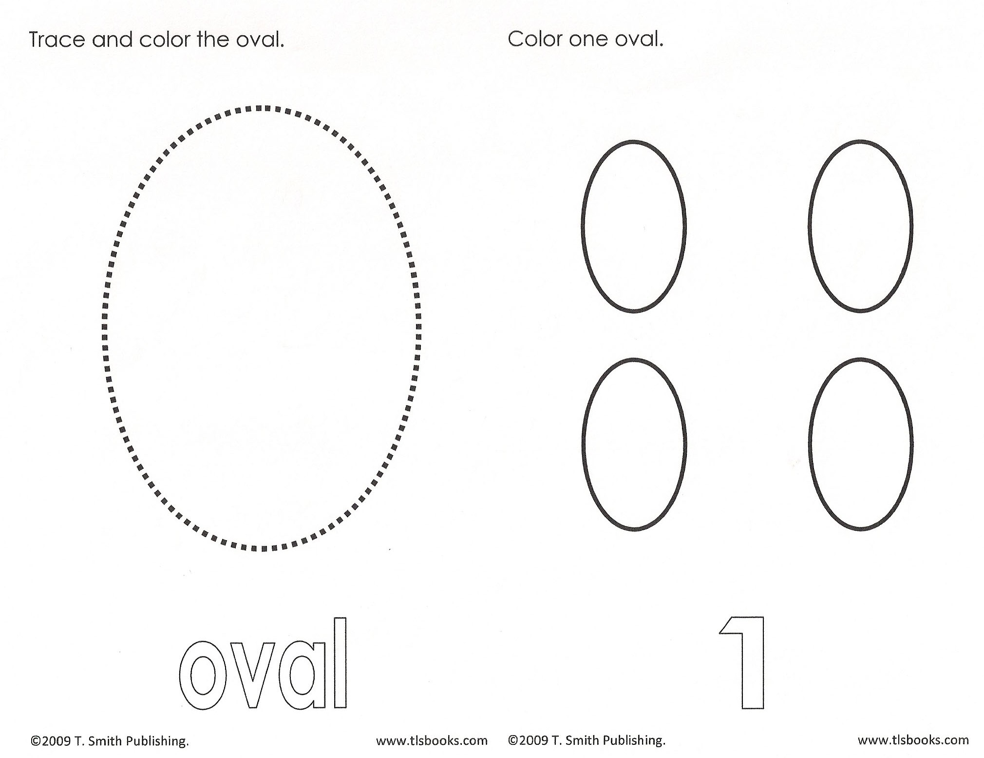 Colorful Oval Shape Tracing Worksheet Free Pre K Worksheets 12