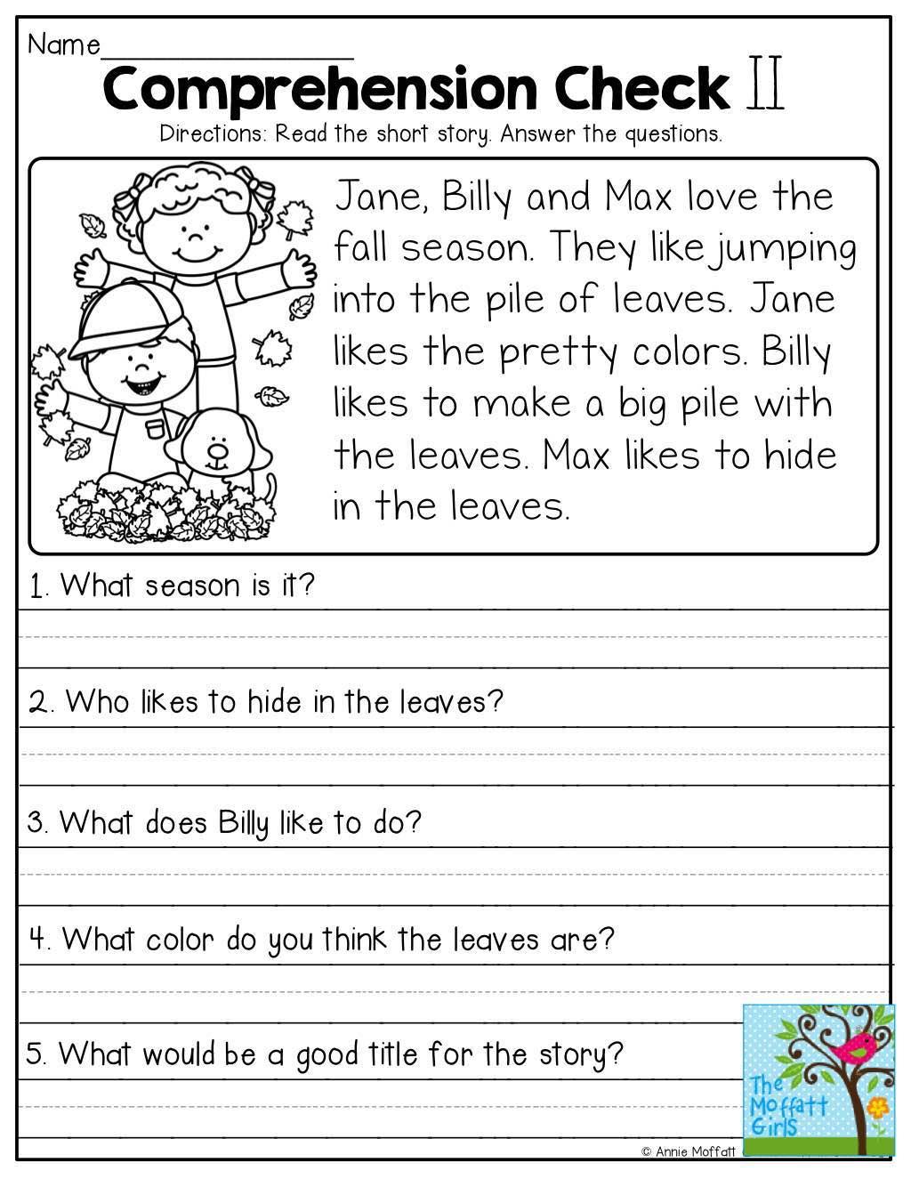Comprehension Worksheets Grade 3 Worksheets For All