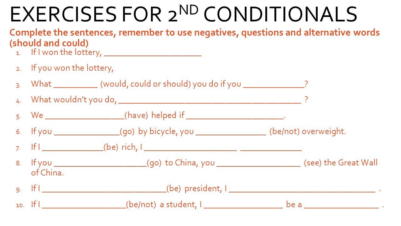 Conditionals 3 Part Lesson