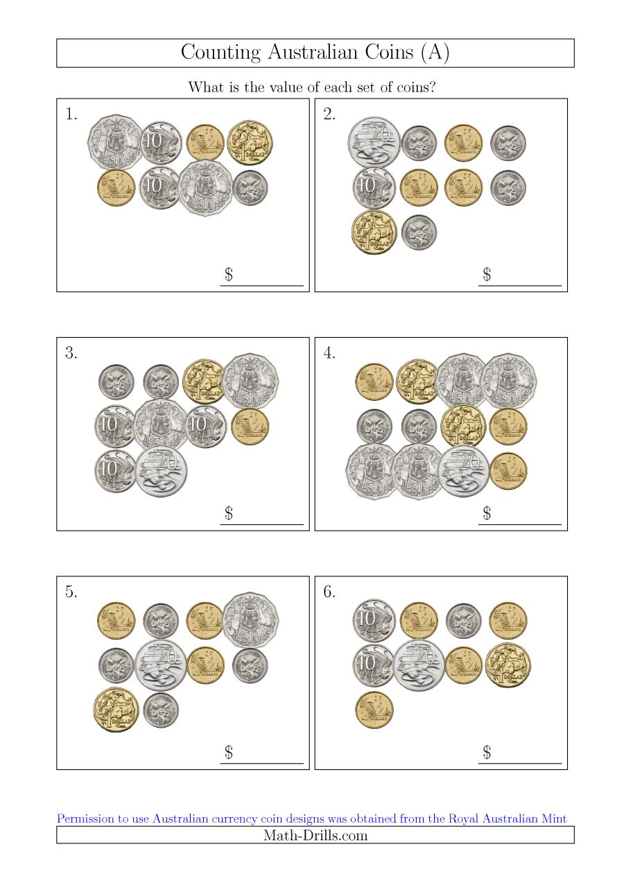 Counting Australian Coins (a)