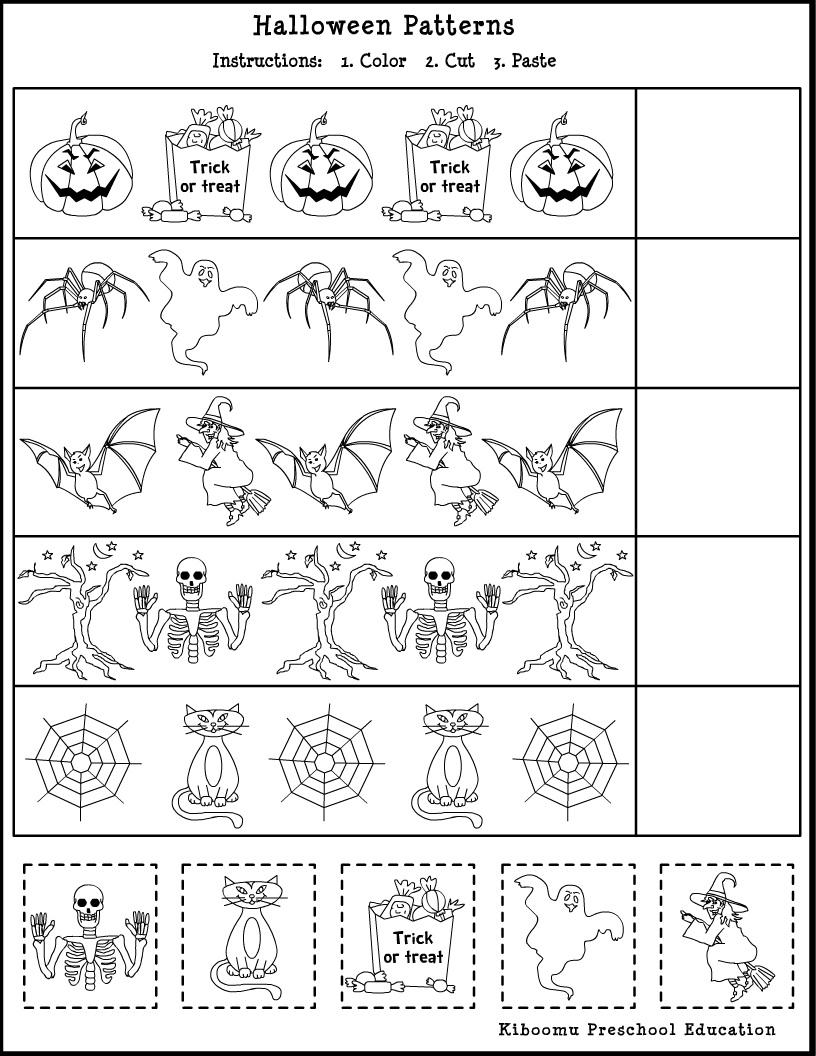 Cut And Paste Halloween Activities (31) Jpg