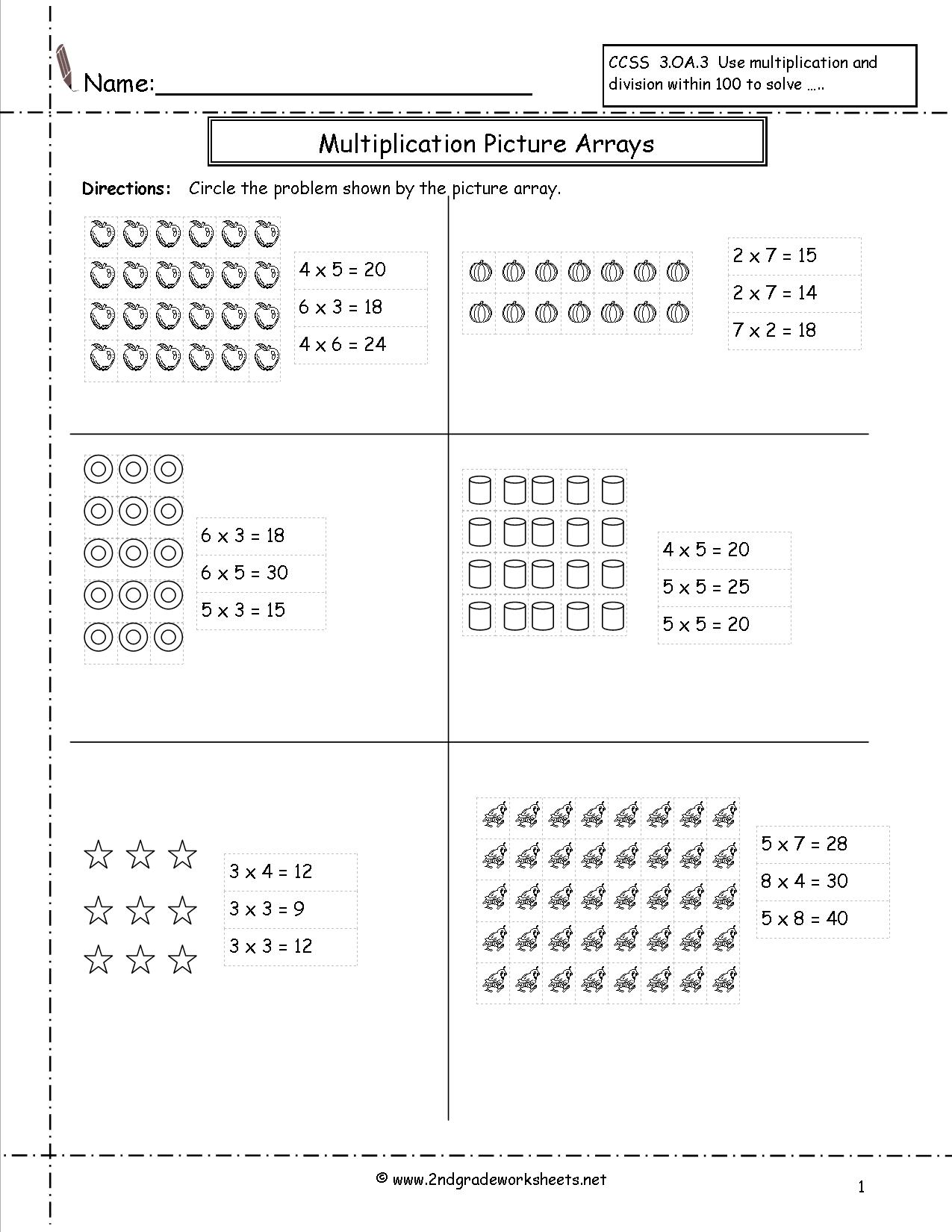 Division Arrays 3rd Grade The Best Worksheets Image Collection