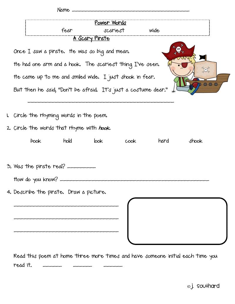 Easy Reading Worksheets For Grade 1