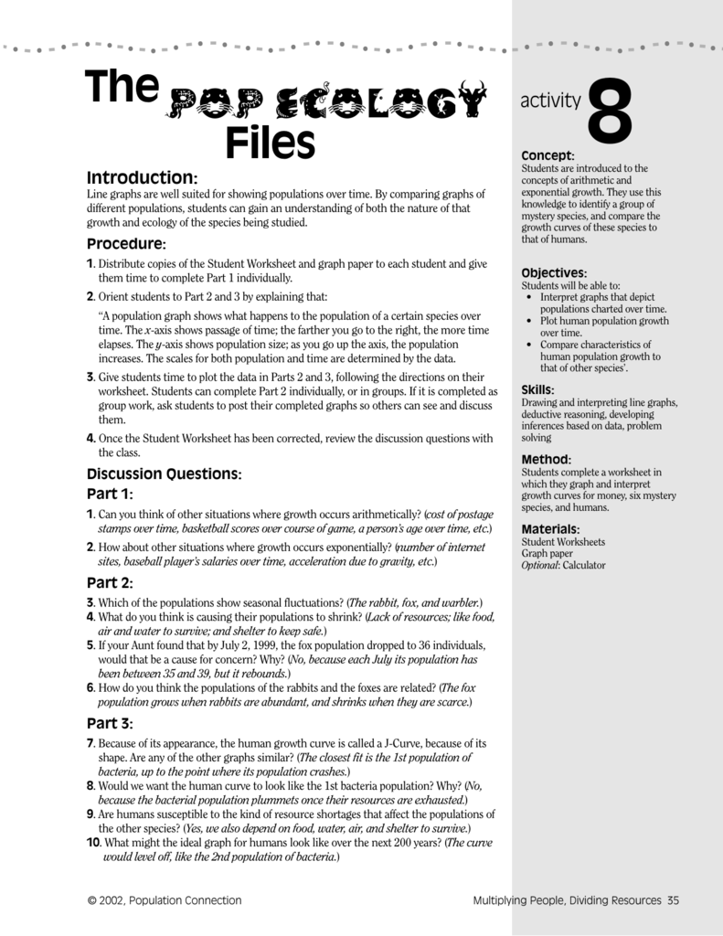Ecology Worksheets For High School Proga Info