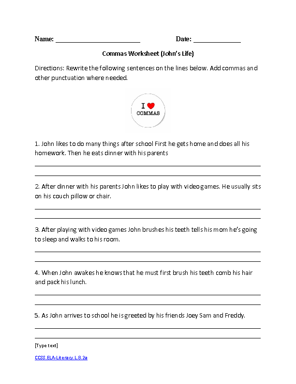English 8th Grade Worksheets The Best Worksheets Image Collection