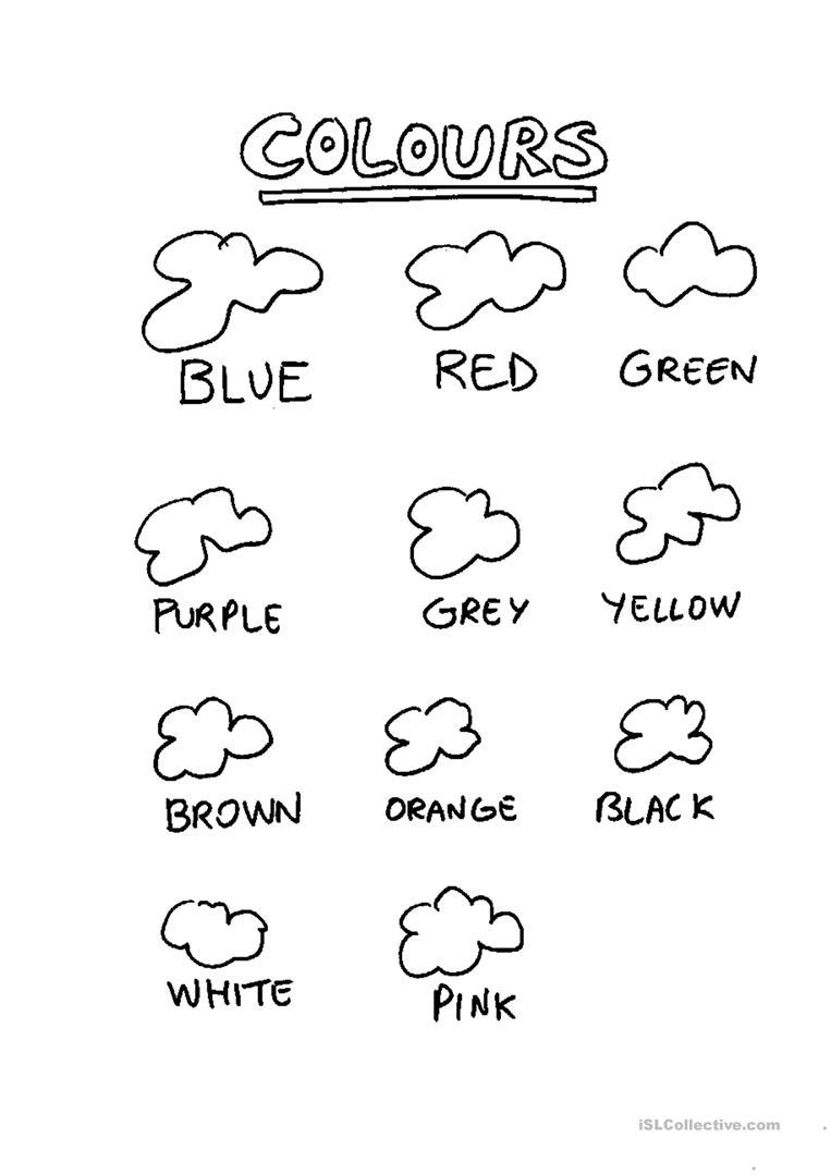 Esl Colors Worksheets Pdf