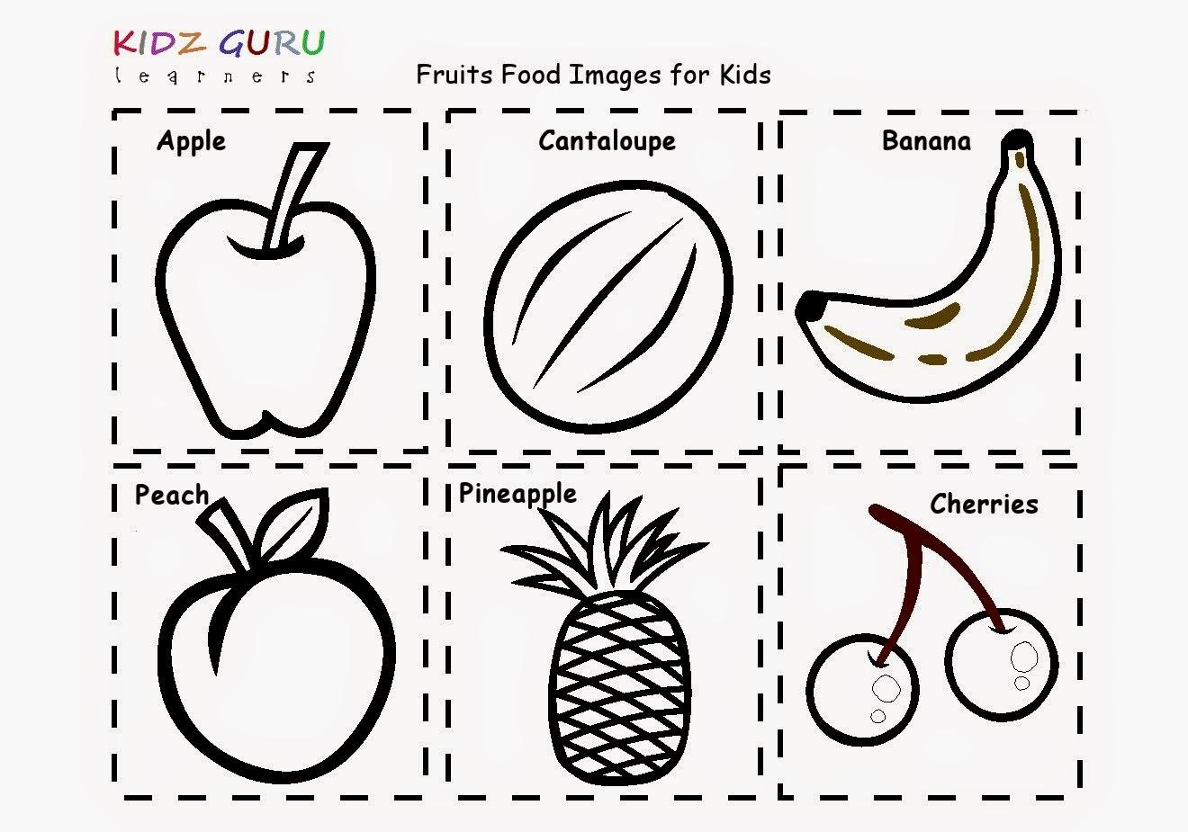Excellent Fruits Coloring Worksheets For Kindergarten Fruit Page