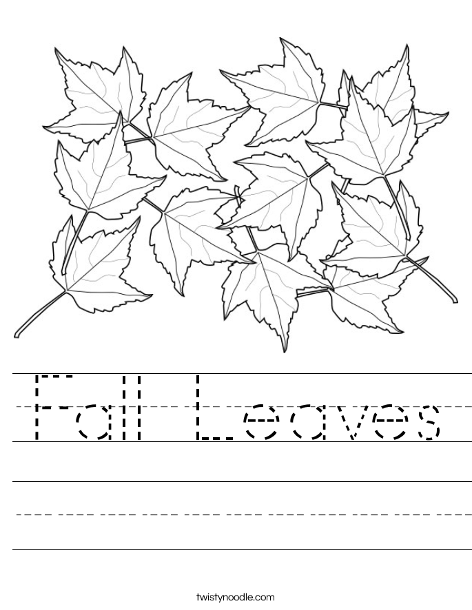Fall Leaves Worksheets The Best Worksheets Image Collection