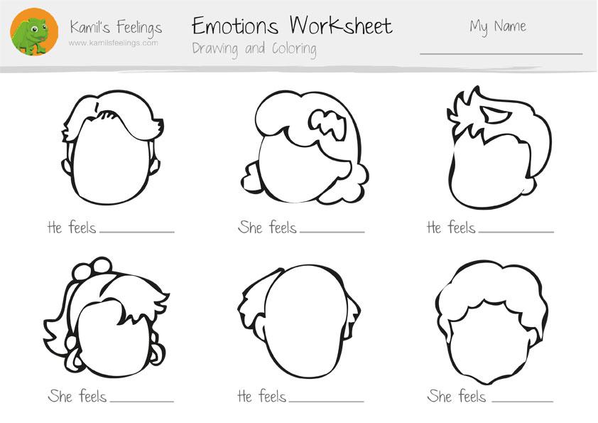 Feelings Worksheet For Kids The Best Worksheets Image Collection