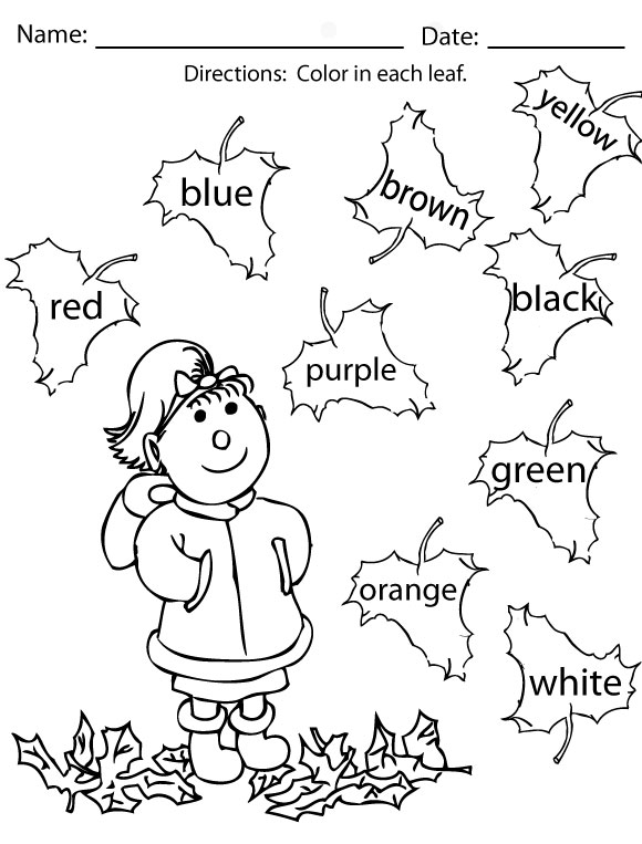 Free Printable Fall Worksheets For Kindergarten The Best