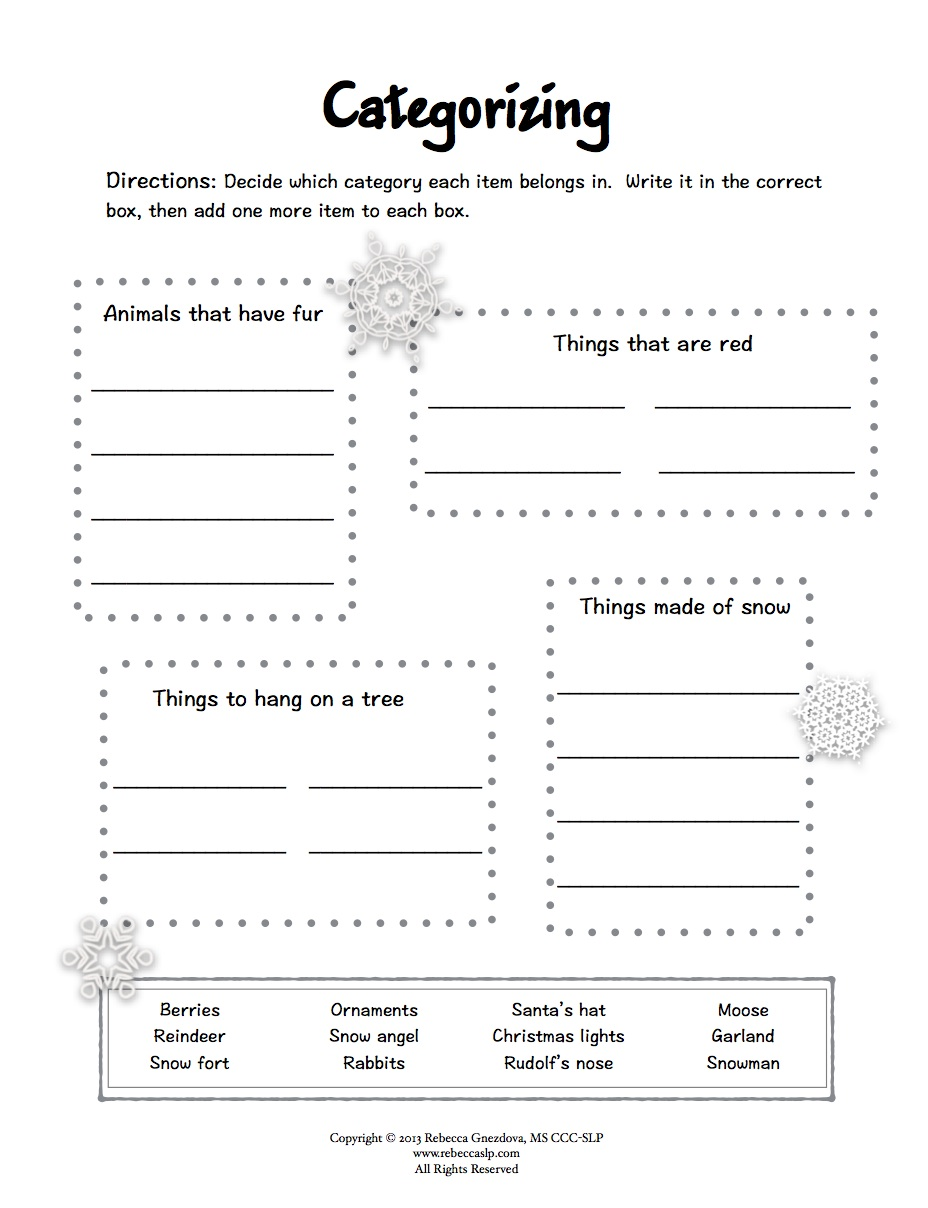 Freebie  Expressive Language Worksheets