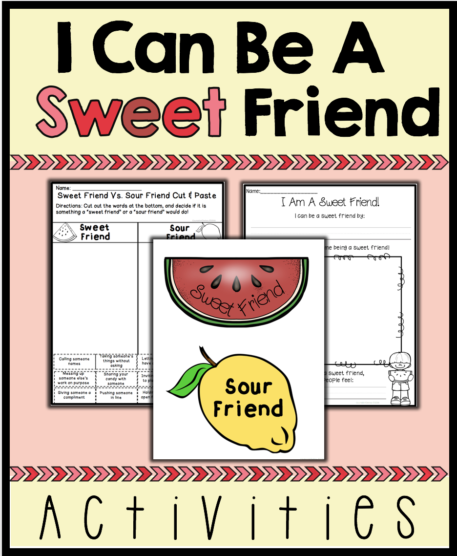Friendship Activities  I Can Be A Sweet Friend