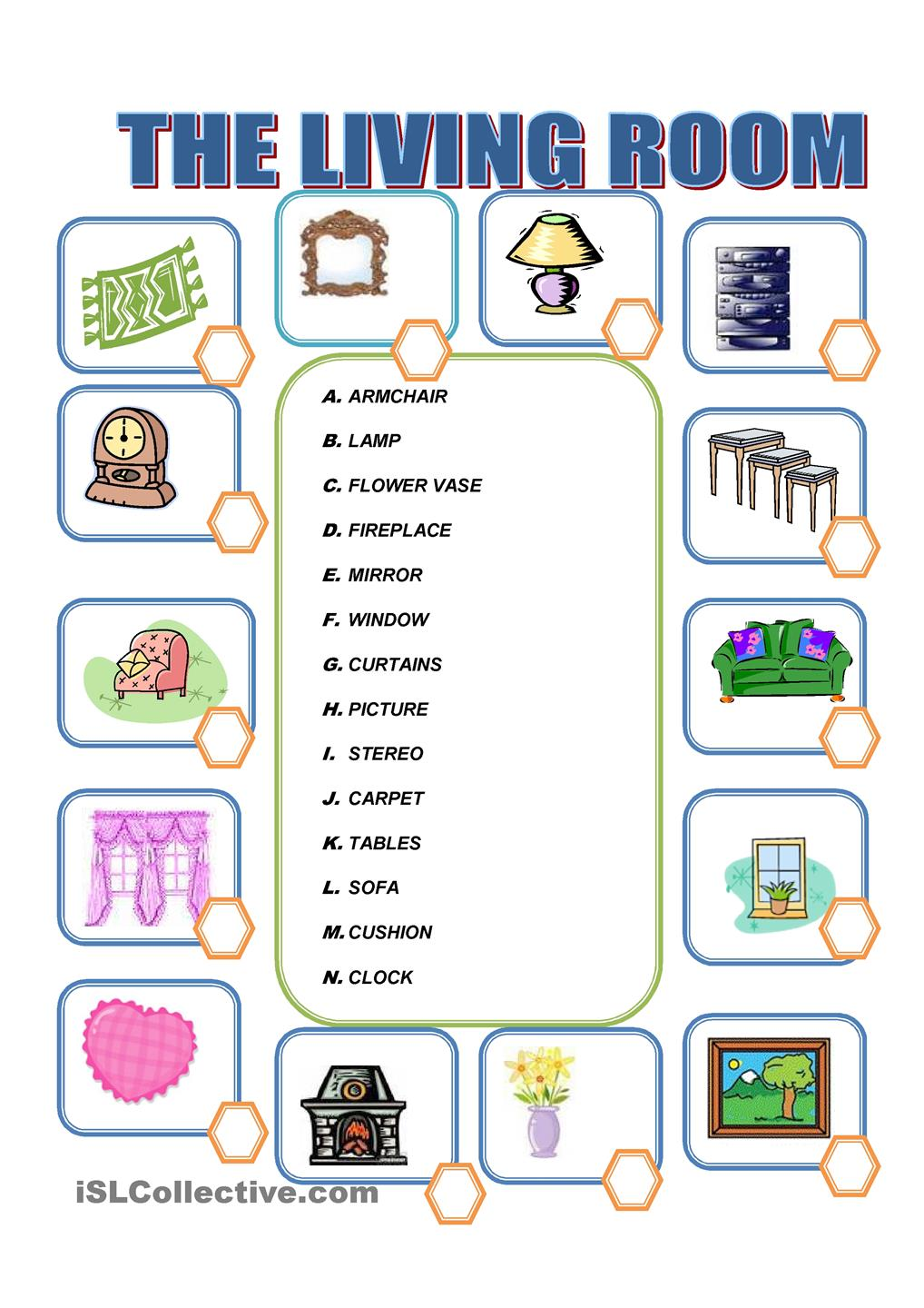 Things In The House Worksheets