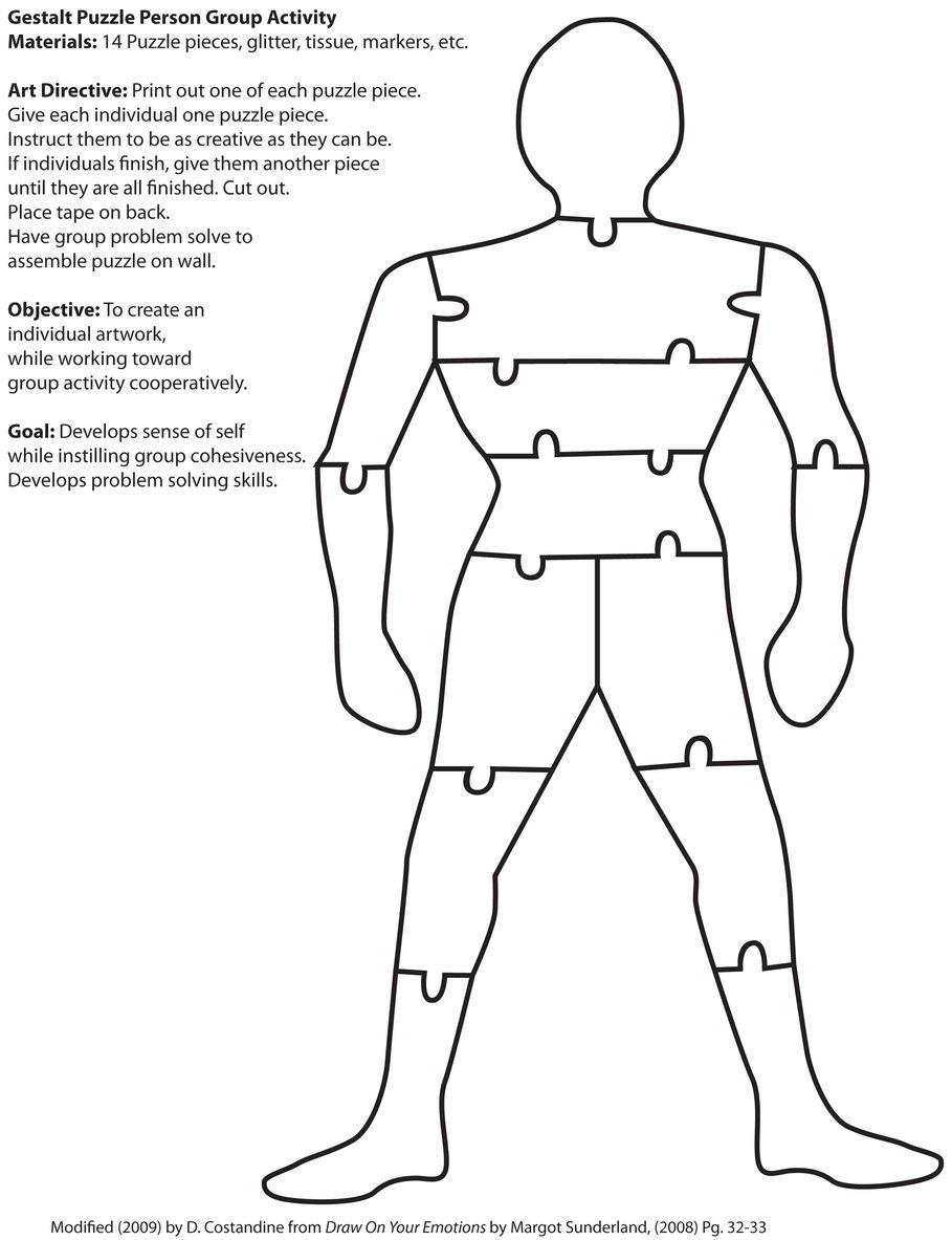 Gestalt Puzzle Person Directive