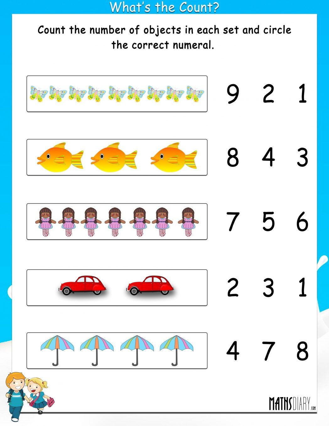 Grade One Math Worksheets Maths For Class 1 I