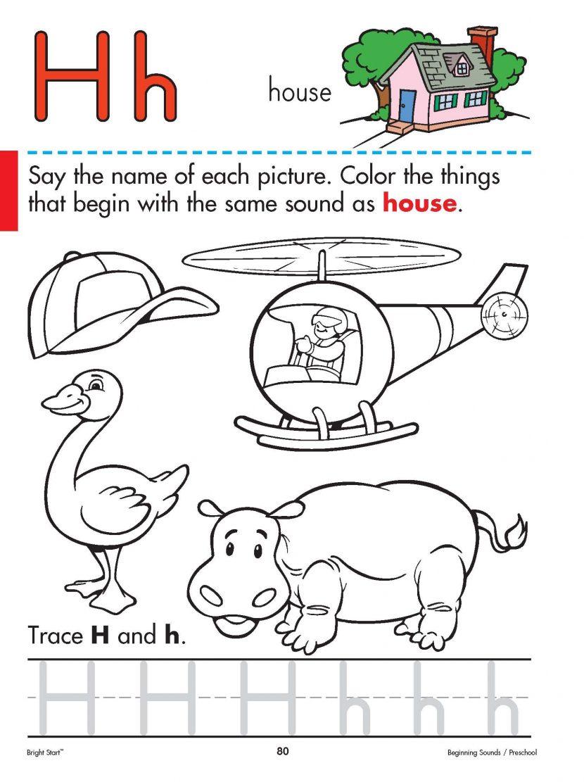 H Sound Worksheets Worksheets For All