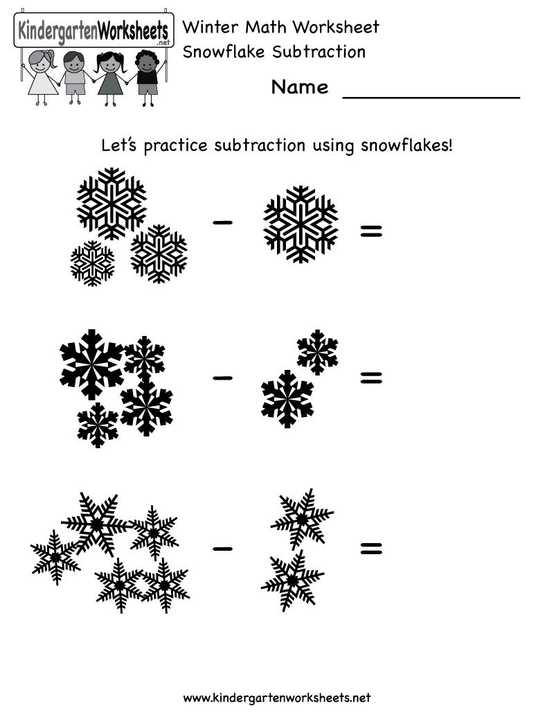 Homeschool Worksheets Kindergarten Math Winter Worksheet Free