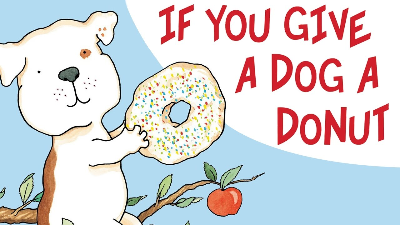 If You Give A Dog A Donut Clipart