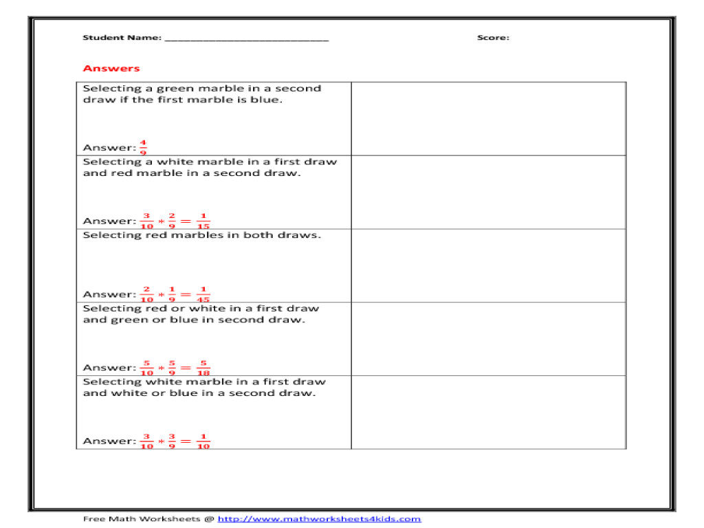 Independent And Dependent Variables Worksheet With Answer Key
