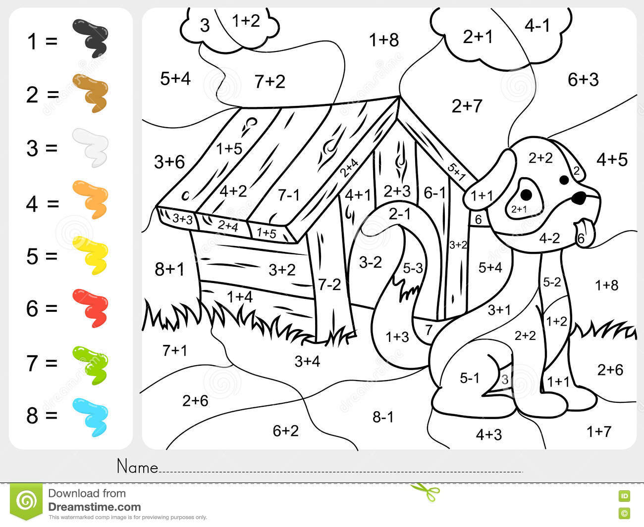 Insider Colour By Numbers Addition Paint Color And Subtraction