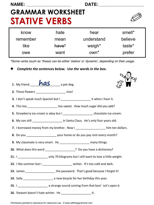 Irregular Past Tense Verbs Worksheet For Kindergarten Verb